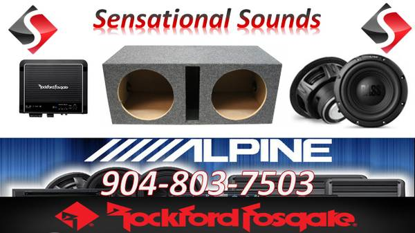 Photo Alpine  Rockford Fosgate Two 12quot Subwoofer Bass Package Installed - $659 (Jacksonville)