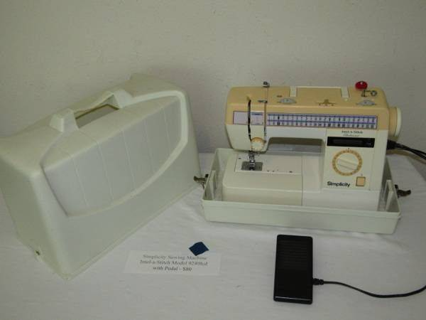 Photo Simplicity Sewing Machine Intel-a-Stitch Model 9240lcd with Pedal - $60 (Normandy  Chaffee)