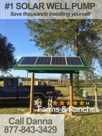 Photo Solar powered deep well pump Small-scale and commercial-scale - $1,550 (valdosta)