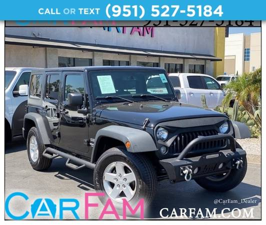 Photo 2015 Jeep Wrangler Unlimited Sport 4x4 - $27,788 (_Jeep_ _Wrangler Unlimited_ _SUV_)
