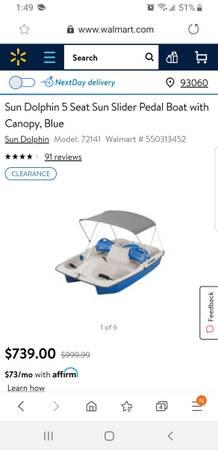 Photo 5 Person Pedal Boat - $350 (Silver Strand)