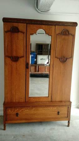 Photo Armoire  Dresser - Antique Solid Wood Cabinet - $225 (Newbury Park)