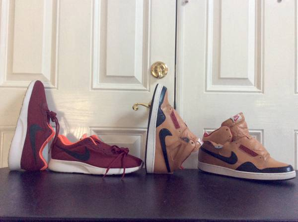 Photo Bundle of Nike Basketball  running shoes and misc Sz 11-12 sold as is - $60 (Agoura Hills)