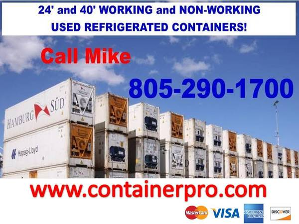 Photo Cargo Container Sale Storage Shipping REFERS Containers (Ventura County)