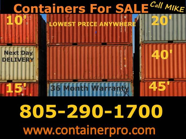 Photo Cargo Container Sale Storage Shipping Refer Containers (Ventura County)