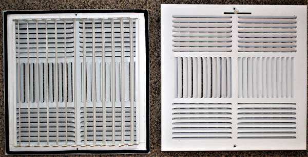 Photo Ceiling Diffuser, grill 4 Way. Steel. 15quot x 15quot White mp - $15 (Newbury Park)