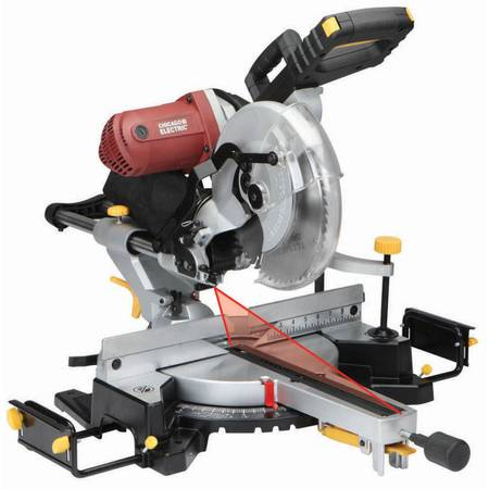 Photo Chicago Electric 12quot Sliding Compound Miter Saw - $140 (WESTLAKE VILLAGE)