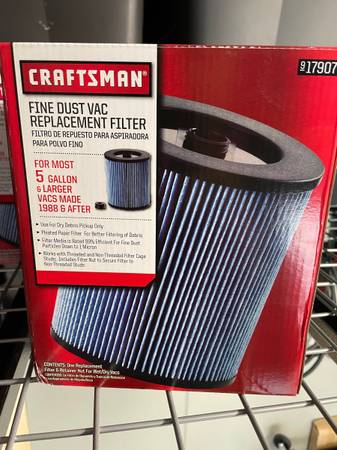 Photo Craftsman Fine Dust Filter for Shop Vac - New in Box - $20 (Oxnard)