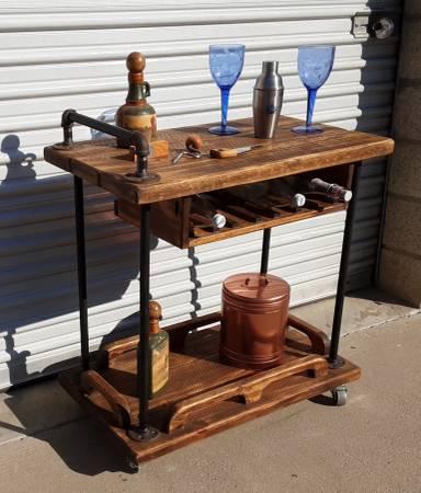 Photo Custom Bar Cart - $475 (Simi Valley)