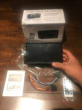 Photo Double Din Car Stereo in-Dash BT Touch Screen 7 inch , Support Backup - $120 (Mission Hills)