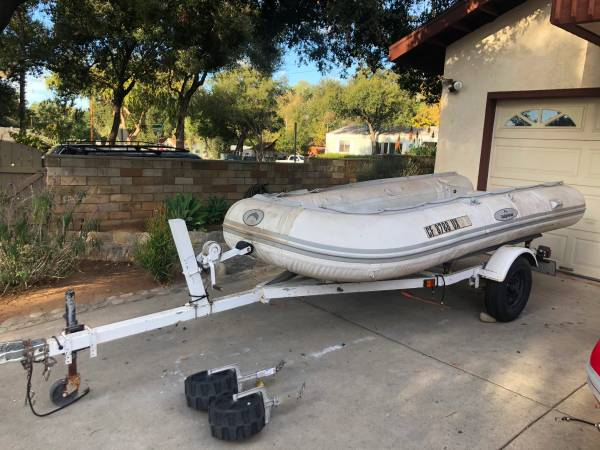 Photo Inflatable Boat with Trailer 1239 - $600 (Ojai)
