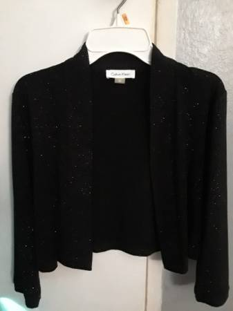 Photo Little Black Glitter Jacket by CALVIN KLEIN - Like New - $15 (Newbury Park)