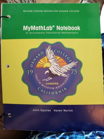 Photo MyMathLab Notebook 2nd Edition - $5 (Camarillo)