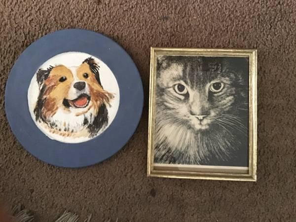Photo Painting of dog on wood - $10 (Ventura)