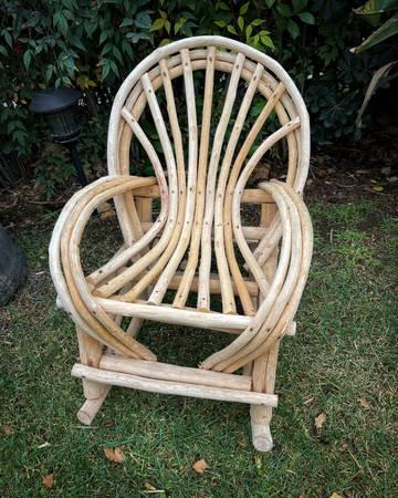 Photo Rustic Outdoor Wood Children39s Rocking Chair - $230 (Agoura Hills)