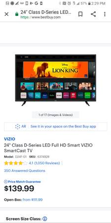 Photo Smart TV Vizmo like new. Ventura county, Santa Barbara county - $70 (Ventura)