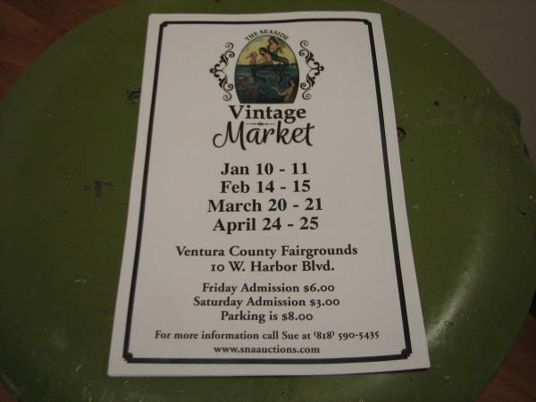 Photo The Seaside Vintage Market is FEB 14th and 15th (Ventura County Fairgrounds)