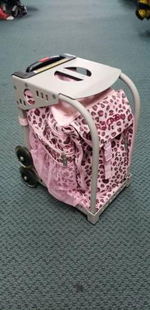 Photo ZUCA Pink Leopard Figure Skate Bag - $80 (Play It Again Sports)