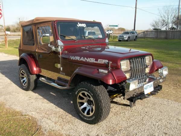 Photo 1988 Jeep Wrangler quotSuper Sharp quotClassic  quot - $12,000 (Victoria, Texas 361-575-1009)