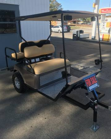 Photo REDUCED to $1600 Golf Cart 4 Seat Trailer (Edna)