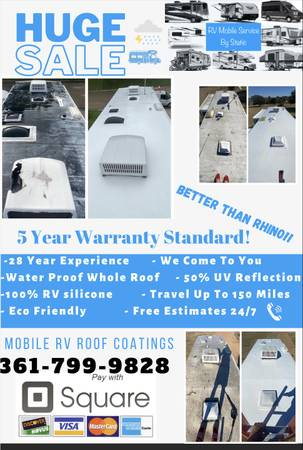 Photo RV Roof Coatings Done On Site WaterproofUV 5year Guarantee - $1 (Victoria And Surrounding Areas)