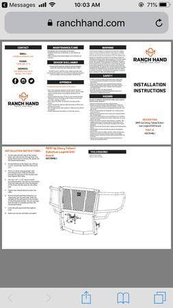 Photo Ranch hand grille guard - $400 (Port Lavaca)