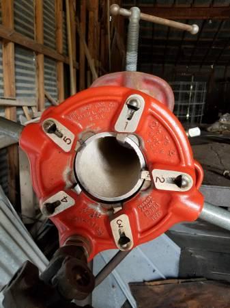 Photo Ridgid Pipe Threader and pipe - $2,000 (Port Lavaca)
