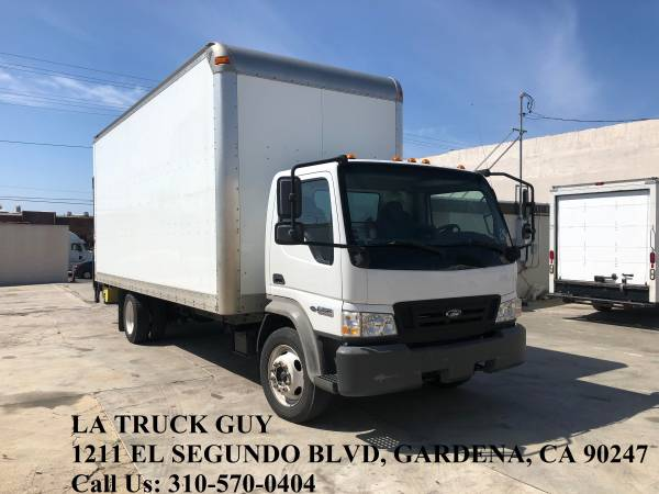Photo 2008 FORD LCF ISUZU NQR 2039 HIGH CUBE BOX TRUCK WITH LIFTGATE LOW MIL - $17500 (GARDENA LOS ANGELES)