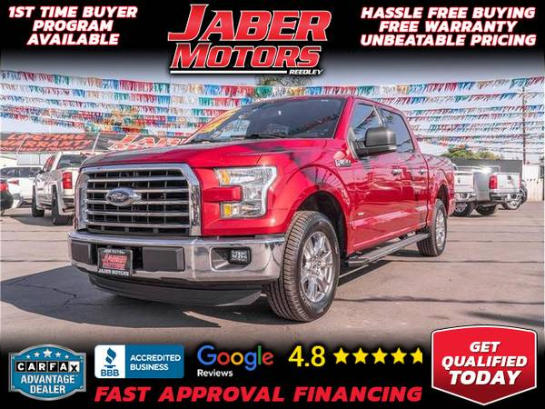 Photo 2016 Ford F150 SuperCrew Cab XLT Pickup 4D 5 12 ft (- ALL CREDIT ACCEPTED - Bad Credit OK)