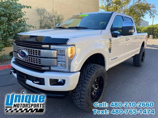 Photo 2017 FORD F-350 F350 F 350 SD DIESEL PLATINUM 4X4 LIFTED  TRUCKS - $64,995 (DELIVERED RIGHT TO YOU NO OBLIGATION)