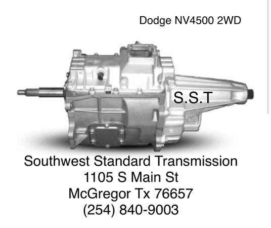 Photo Dodge Transmissions NV4500, NV5600, G56, Dodge Getrag (McGregor)