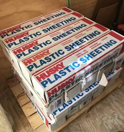 Photo Husky Plastic Sheeting 20 Ft. X 200 Ft.  4000 Sq. Ft. Clear 1.5 Mil - $20 (Waco)