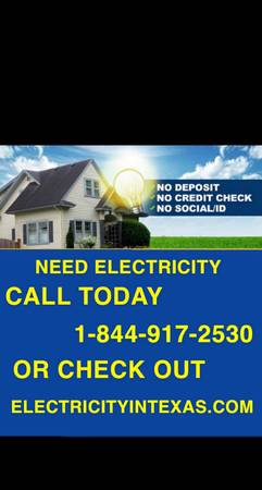 Photo NO DEPOSIT ELECTRICITY IN WACO CALL NOWNO CREDIT CK SAME DAY (waco)