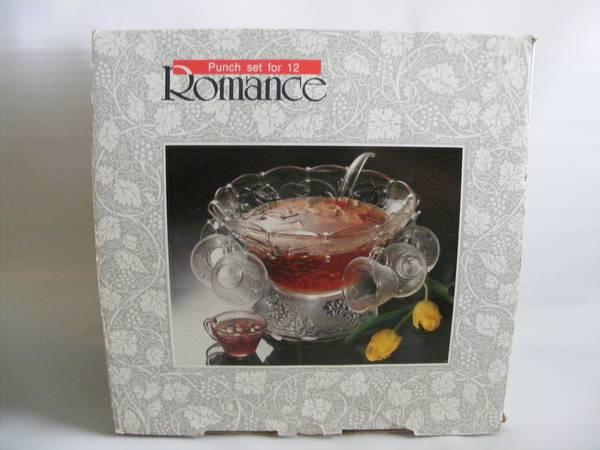 Photo Punch Bowl Set Romance 27 Piece - $35 (China Spring)