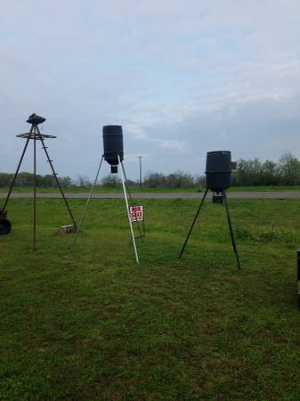 Photo Tripod stand and 2 Deer Feeders - $300
