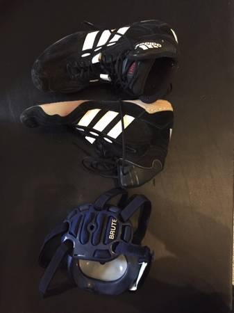 Photo Wrestling Shoes and Ear Guards - $10 (McGregor)