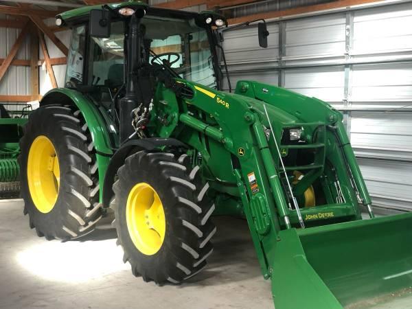 Photo 2018 John Deere 5100R MFWD 100HP Powershift Tractor wLoader  Bucket - $81,999