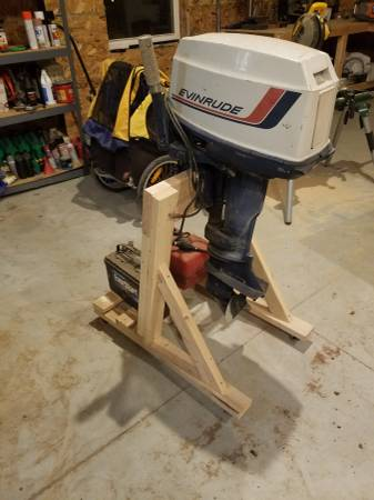 Photo Outboard Motor Stand - $30 (Shell Rock)