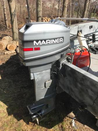 Photo 16 Foot Aluminum Boat w 25hp Mercury Outboard and Trailer - $2,000