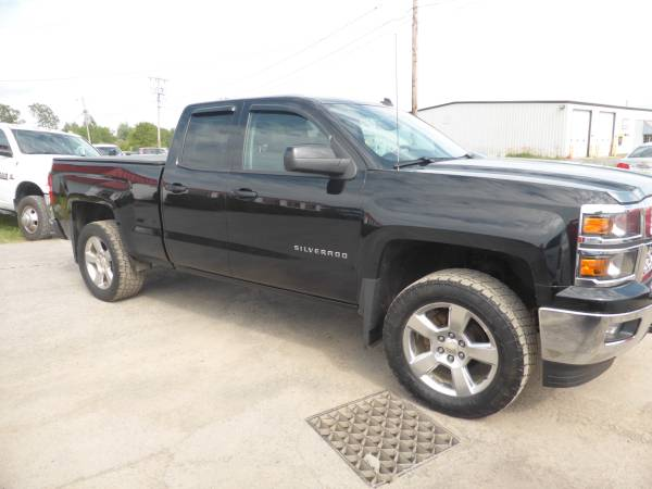 Photo 2014 CHEVY SILVERADO DOUBLE CAB LT 4x4 AWD Black On Bla Leather Loaded - $23,988 (THE DEALER TRADER AUTO GROUP BRADLEY ST  81)
