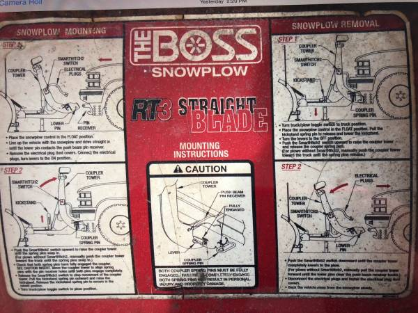 Photo BOSS 7396quot snow plow - $1000 (Lowville)
