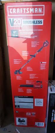 Photo NEW CRAFTSMAN 2-pc 20V Brushless Trimmer Blower Combo Kit - $150 (Williamson)