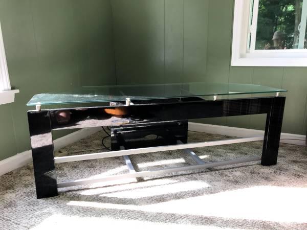 Photo glass corner tv stand (redwood)