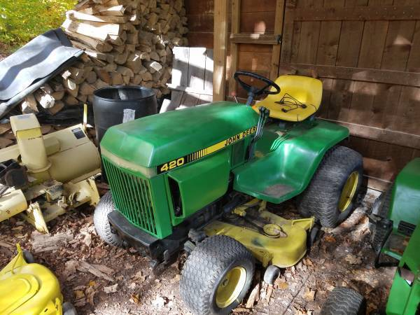 Photo john deere 420, snowblower, mower deck - $3000 (brantingham)