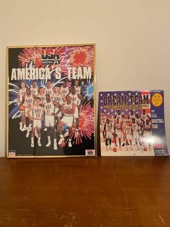 Photo 1992 USA Dream Team Basketball Framed Poster Calendar Michael Jordan - $20 (Stevens Point)