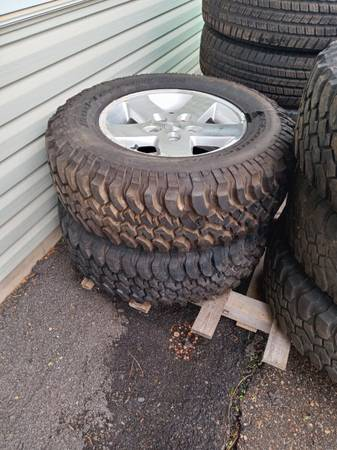Photo 5, 2008 Jeep Rubicon tires and Rims - $1,100 (Sherry, WI)