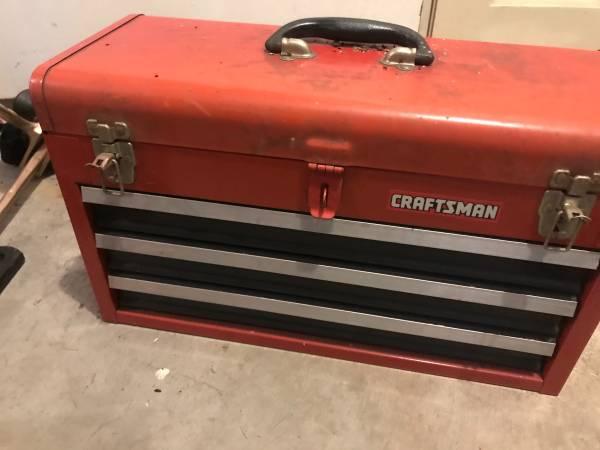 Photo Craftsman 3 drawer toolbox - $40 (Stevens Point)