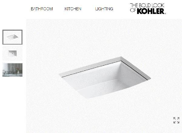 Photo KOHLER Archer K-2355-0 Undermount Porcelain Bathroom Sink - $125 (Nekoosa)