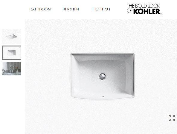 Photo KOHLER Archer K-2355-0 Undermount Porcelain Bathroom Sink - $100 (Nekoosa)