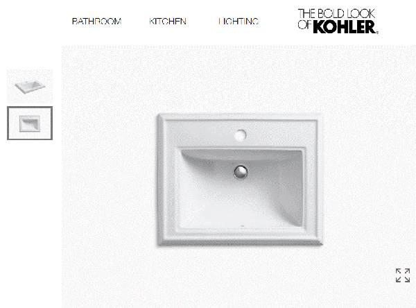 Photo KOHLER Memoirs K-2241-1-0 Classic Drop In Porcelain Bathroom Sink - $100 (Nekoosa)
